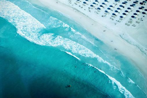 Free Stock Photo of Beach Aerial
