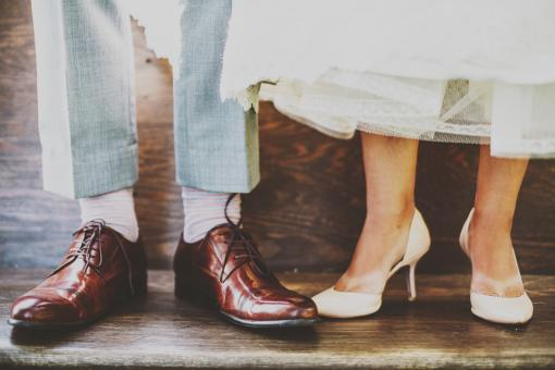 Free Stock Photo of Couples Shoes