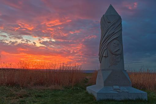 Free Stock Photo of Gettysburg Sunset - HDR