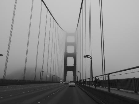 Free Stock Photo of Foggy Bridge