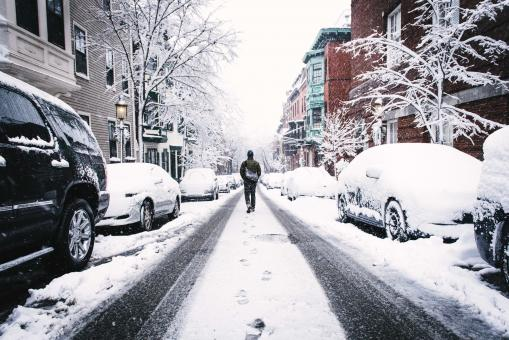 Free Stock Photo of Snowy Walk