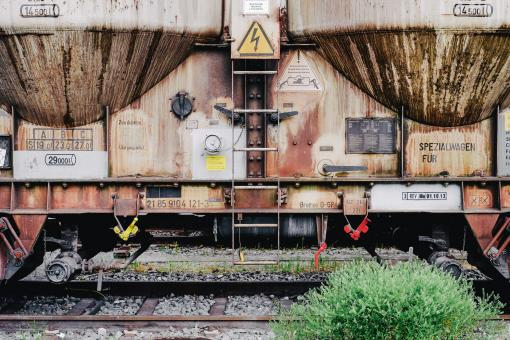 Free Stock Photo of Rusting Train Cart
