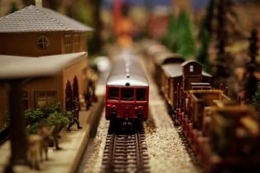 Free Stock Photo of Toy Trains Tilt Shift