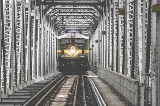 Free Stock Photo of Steel Train