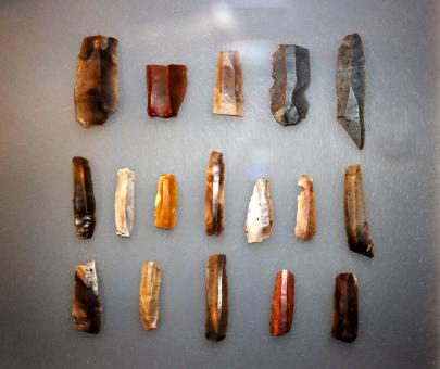 Free Stock Photo of Primitive Tools - Neolithic Flint Blades