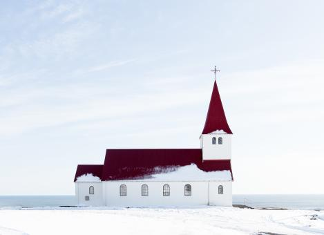 Free Stock Photo of Church by the Sea