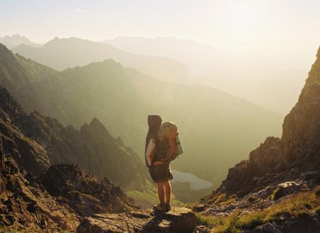 Free Stock Photo of Hiker on the way