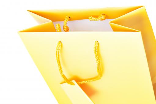 Free Stock Photo of Yellow gift bag