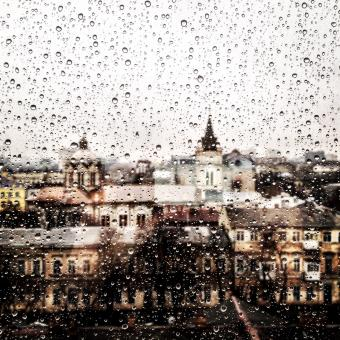 Free Stock Photo of Rainy window