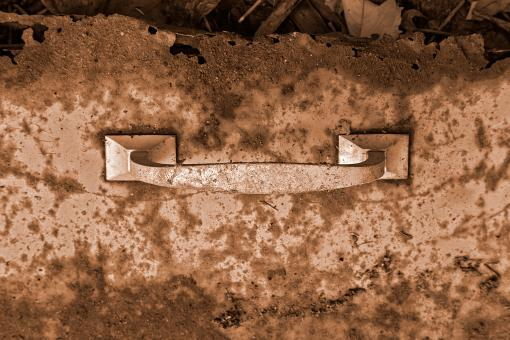 Free Stock Photo of Rusty Cabinet Drawer - Sepia HDR