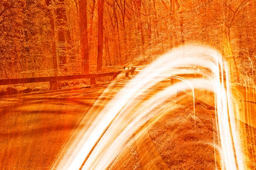 Free Stock Photo of Fiery Streaks of Rock Creek