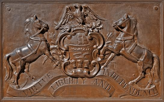 Free Stock Photo of Memorial Plaque - Pennsylvania Coat of Arms