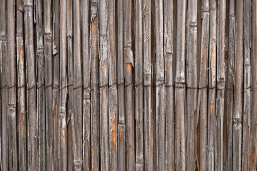 Free Stock Photo of Rustic Bamboo Wall - HDR Texture