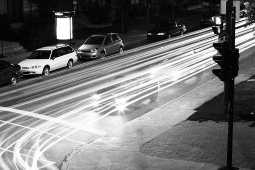 Free Stock Photo of Traffic Light Trails