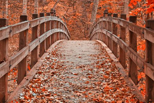 Free Stock Photo of Ruby Red Bridge - HDR