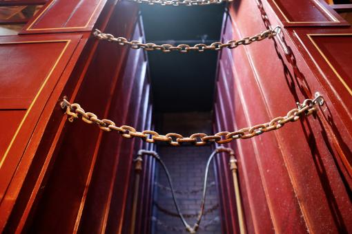 Free Stock Photo of Red Metal Chain