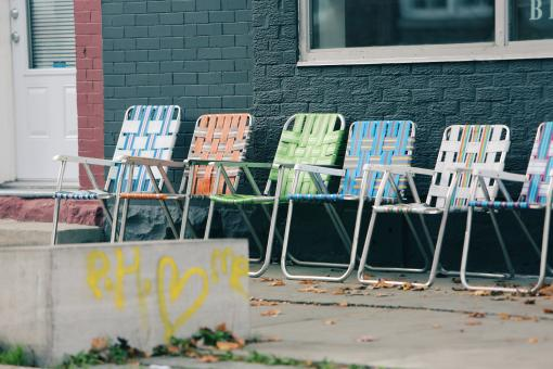 Free Stock Photo of Colored Chairs