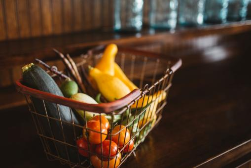 Free Stock Photo of Vegetable Basket