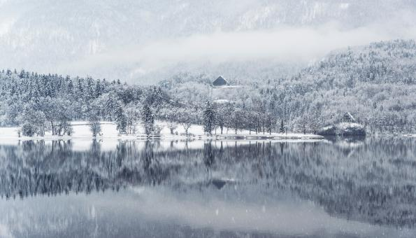 Free Stock Photo of Winter Reflection