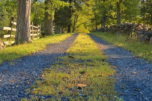 Free Stock Photo of Gettysburg Gravel Road - HDR