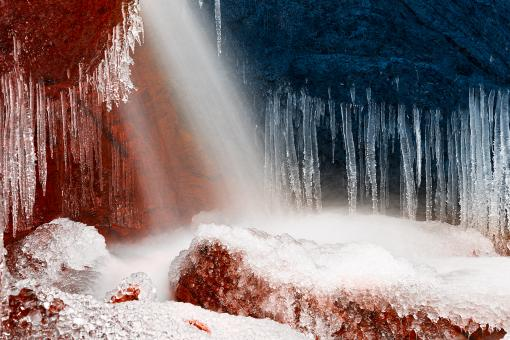 Free Stock Photo of Winter Harmony Stream - Red White & Blue