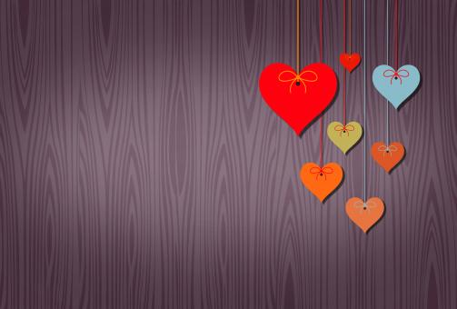 Free Stock Photo of Hearts Background with Copyspace