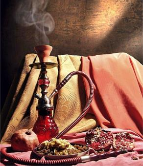 Free Stock Photo of Shisha and Fruit