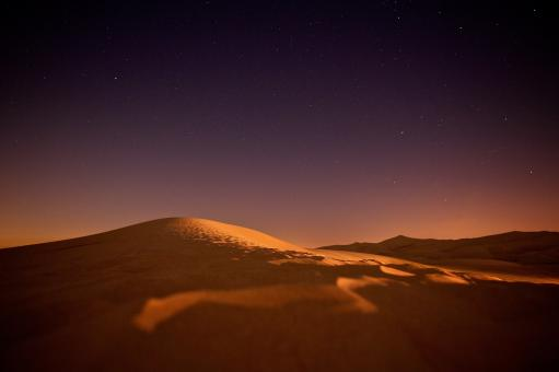 Free Stock Photo of Desert at night