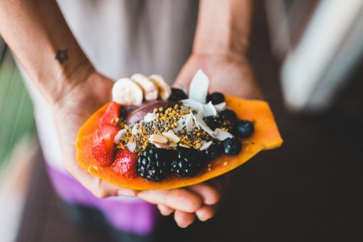 Free Stock Photo of Papaya Dish