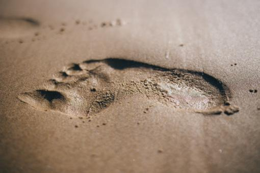Free Stock Photo of Footstep
