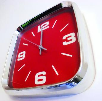 Free Stock Photo of Red Clock