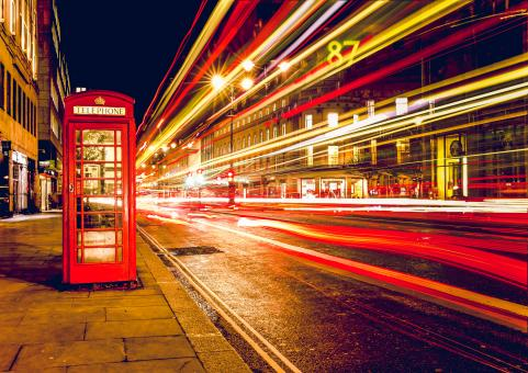 Free Stock Photo of Phone Booth Long Exposure