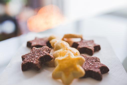 Free Stock Photo of Star Cookies