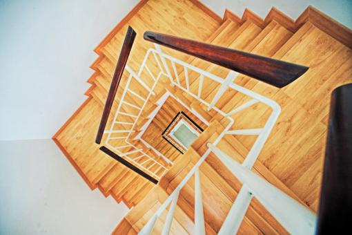 Free Stock Photo of Wooden Stairs