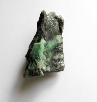 Free Stock Photo of Raw uncut emerald gemstone