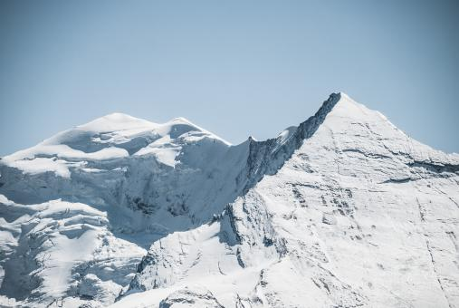 Free Stock Photo of Snowy Mountain