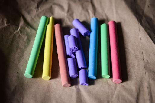Free Stock Photo of Colored Chalks