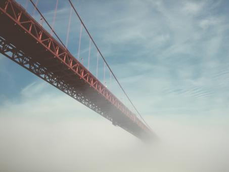 Free Stock Photo of Bridge In The Mist