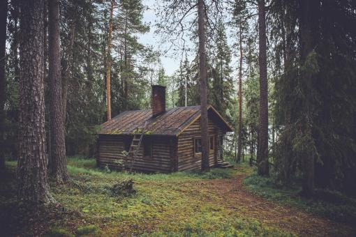 Free Stock Photo of Wooden House