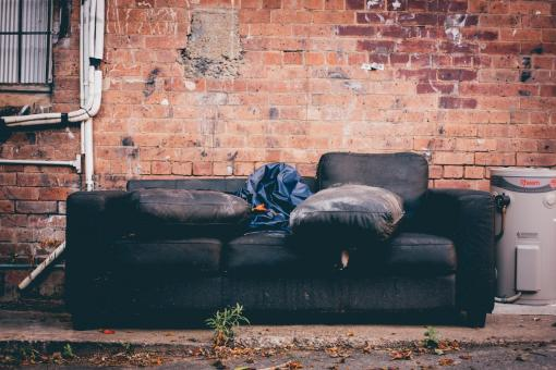 Free Stock Photo of Old Couch