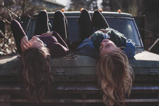 Free Stock Photo of Two Girls
