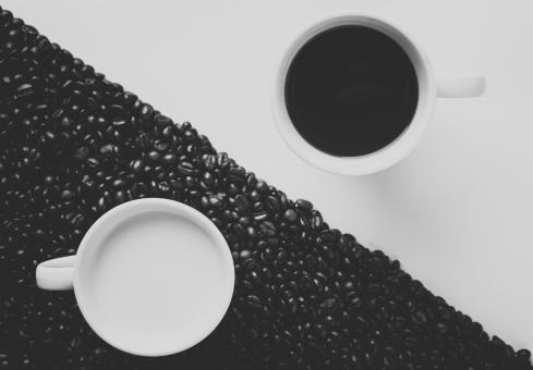 Free Stock Photo of Coffee - Yin and Yang