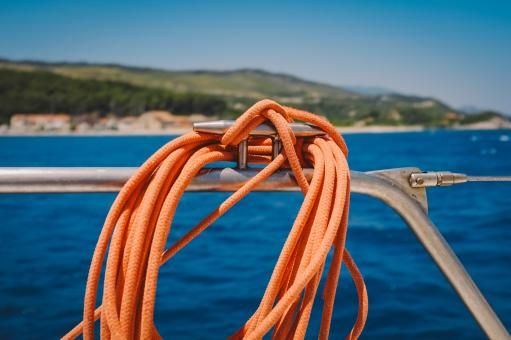 Free Stock Photo of The Rope on the Boat