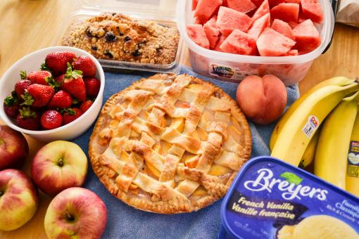 Free Stock Photo of Fruits and Pie