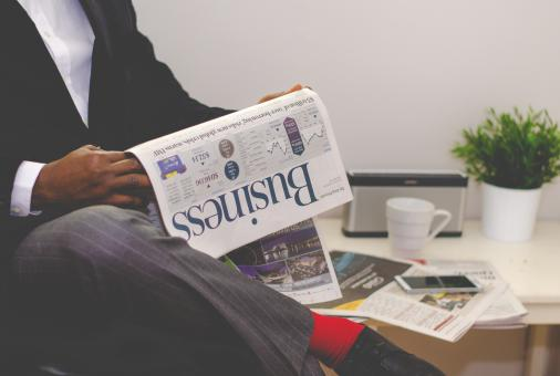 Free Stock Photo of Business Newspaper