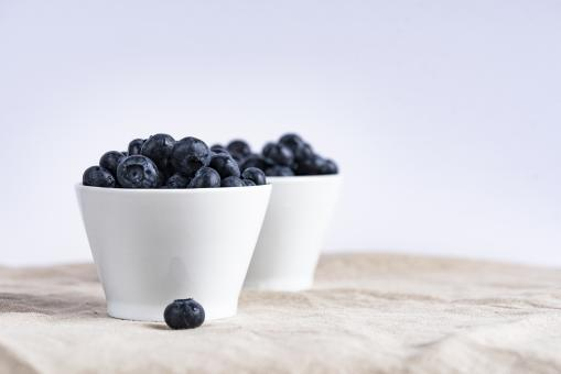 Free Stock Photo of Bowl of Blueberries