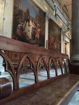 Free Stock Photo of Duomo Church Bench