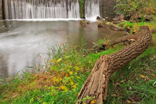 Free Stock Photo of Waterside Mill Falls