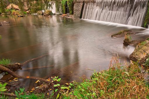 Free Stock Photo of Waterside Mill Falls - HDR