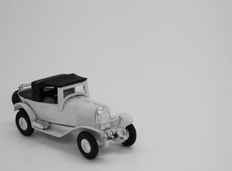 Free Stock Photo of Vintage Toy Automobile - Black and White